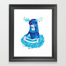 Baby Blue #4 Framed Art Print