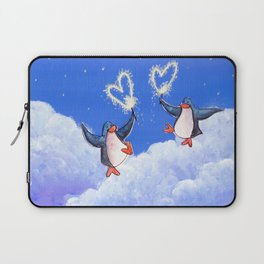 penguins spread love with sparklers Laptop Sleeve