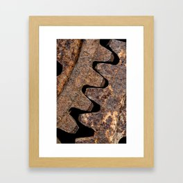 Old and rusty cogwheels Framed Art Print