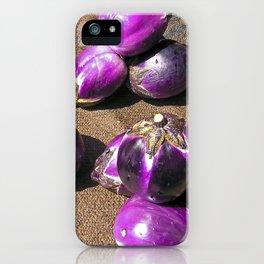 Fresh Aubergines - Market - Sicily iPhone Case