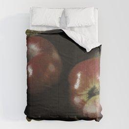 Apples on Burlap Comforters