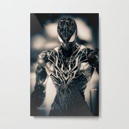 Black Spidey Metal Print
