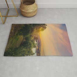 Clear Lake Sunset | Lake County California Landscape Sunset Travel Photography Rug