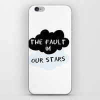 fault in our stars iPhone & iPod Skins featuring The Fault In Our Stars by swiftstore