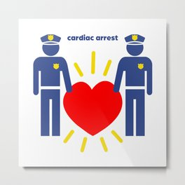 Cardiac Arrest Metal Print