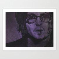 johnny depp Art Prints featuring Johnny Depp by Britt Mansouri