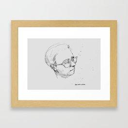 SERIOUS DESIGNER Framed Art Print