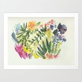 Florals and Corals Art Print