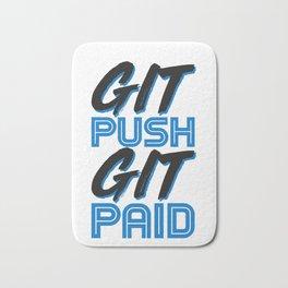 Git Push Git Paid ASCII and Git Lover Coding Humor Programmer Humor Bath Mat