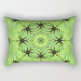 Fern frond fantasy kaleidoscope Rectangular Pillow