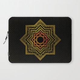 Golden Decorative Star of Lakshmi - Ashthalakshmi Laptop Sleeve