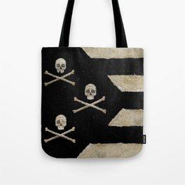 Cut Skull Flag Tote Bag