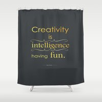 creativity Shower Curtains featuring Creativity by Cecilie