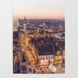 Twilight in Bruges Poster