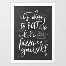 Pizza kitchen Art Print