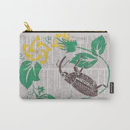 I Shall Fear No Weevil   (Boll Weevil and Cotton Blossoms) Carry-All Pouch