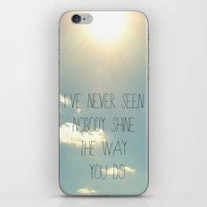 sky lyrics iPhone & iPod Skin