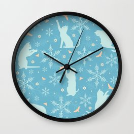 festive flurry Wall Clock