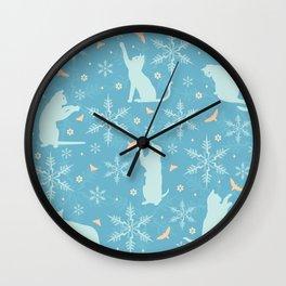 festive flurry Wall Clock