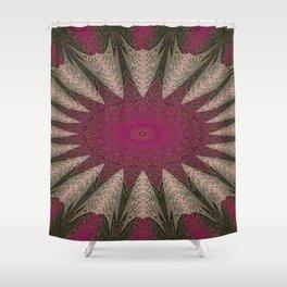 Flattened Kaleidoscope Shower Curtain