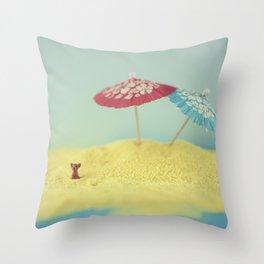Doggy island Throw Pillow