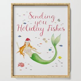 Sending you Holiday Fishes Serving Tray