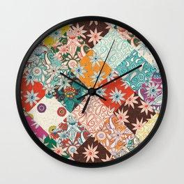sarilmak patchwork Wall Clock