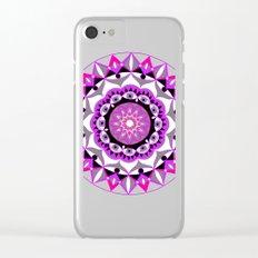 My Love Mandhala   Secret Geometry   Energy Symbols Clear iPhone Case
