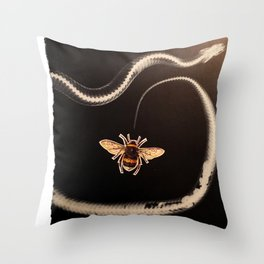 Snakebee Throw Pillow