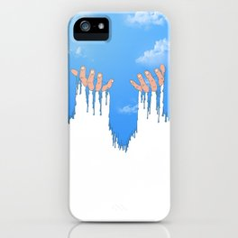 Le ciel coule sur mes mains iPhone Case