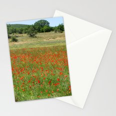 Poppies in Provence, France Stationery Cards