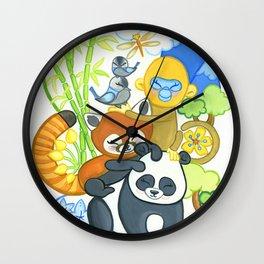 Bamboo Bunch Wall Clock