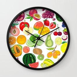 Fruits Paradise Wall Clock