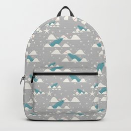 narwhal in ocean grey Backpack