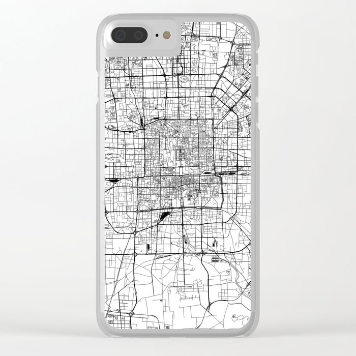 Beijing White Map Clear iPhone Case