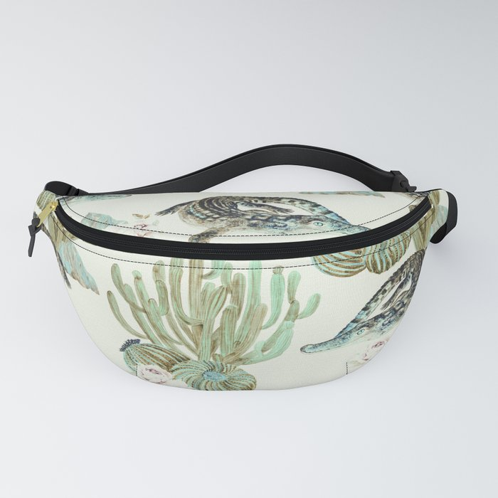 Crocodile pattern on the cactus Fanny Pack