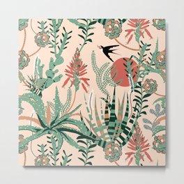 Succulents Jungle Metal Print