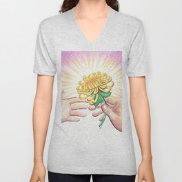 Gift of a Flower Unisex V-Neck