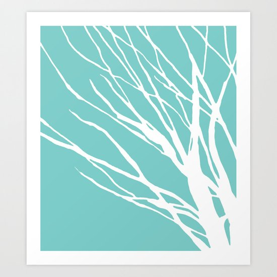 Cyan Blues Art Print