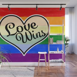 Pride Flag Love is Love-Water Color Graphic  Design  Wall Mural