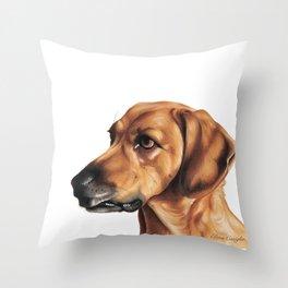 Dog Artwork in coloured pencil Throw Pillow