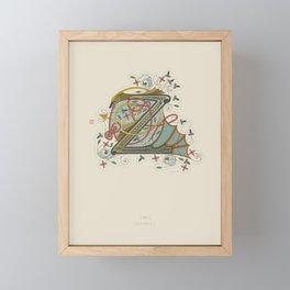 Celtic Initial Z Framed Mini Art Print