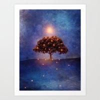 lights Art Prints featuring Energy & lights by Viviana Gonzalez