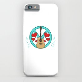 Peace Love Music Awesome Hippie Pacifist Festival iPhone Case
