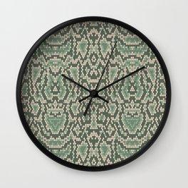 animal snake skin python Wall Clock