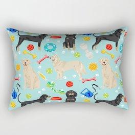 Golden Retriever and Coonhound design Rectangular Pillow
