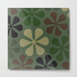 Abstract Flower Camouflage Metal Print