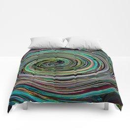 Hypnotic vortex Comforters