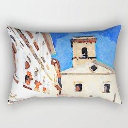 Borrello: foreshortening with church Rectangular Pillow