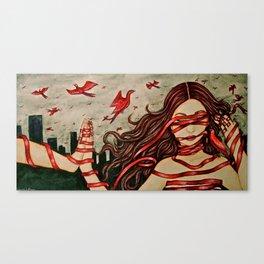 Unspooled Canvas Print